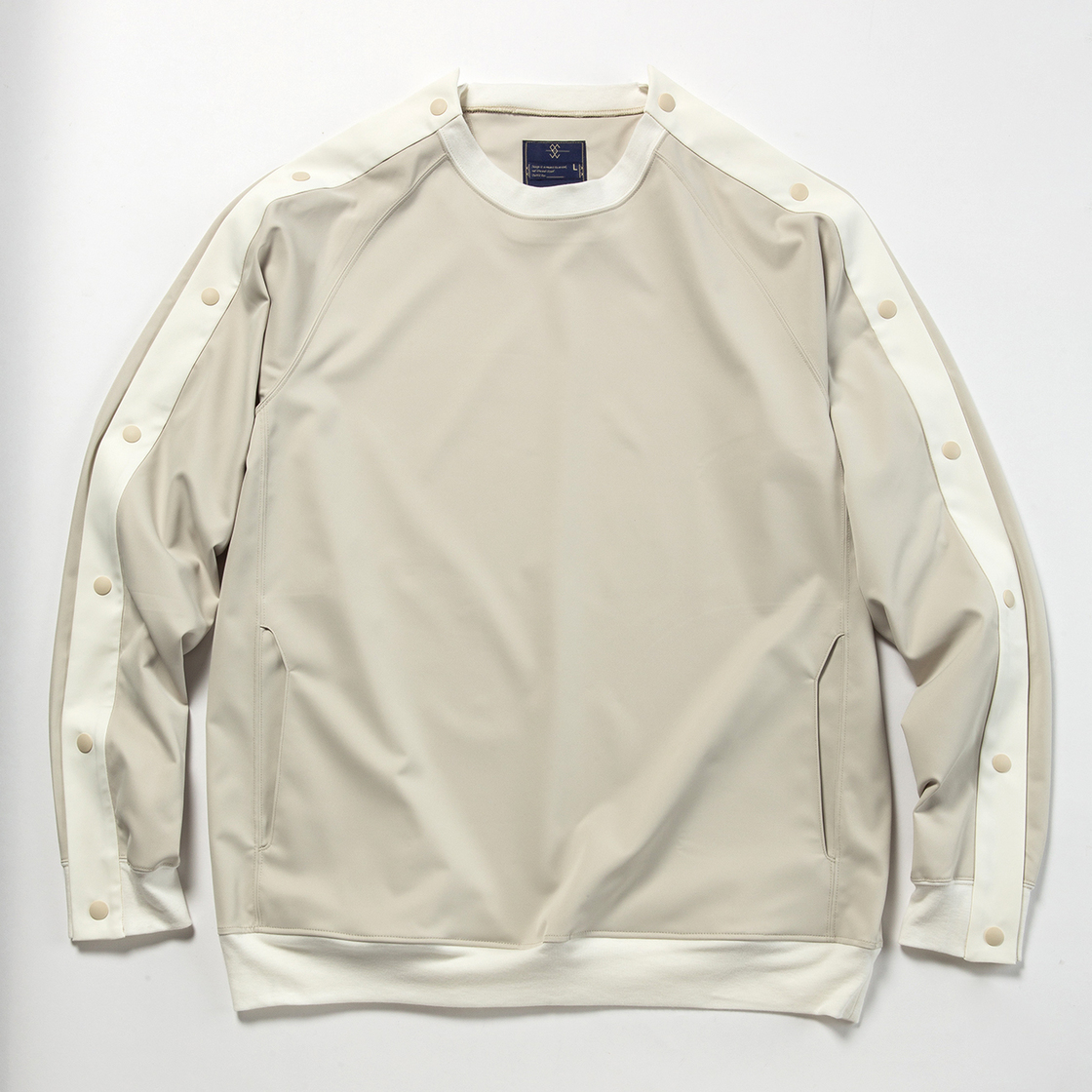 Elastic Twill Popper Sweat
