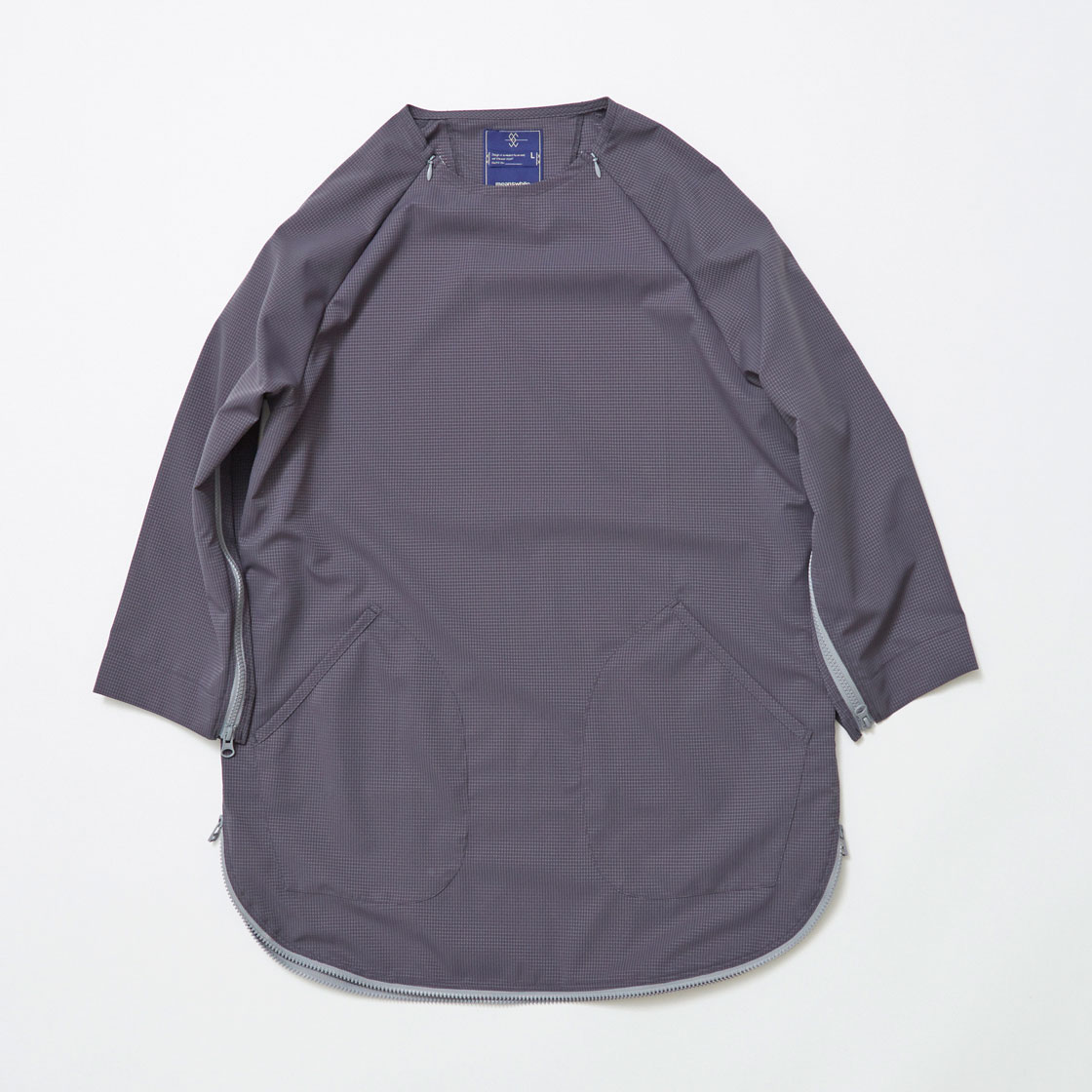 Water-repellent Dot Mesh Loop Zip Sweatshirt