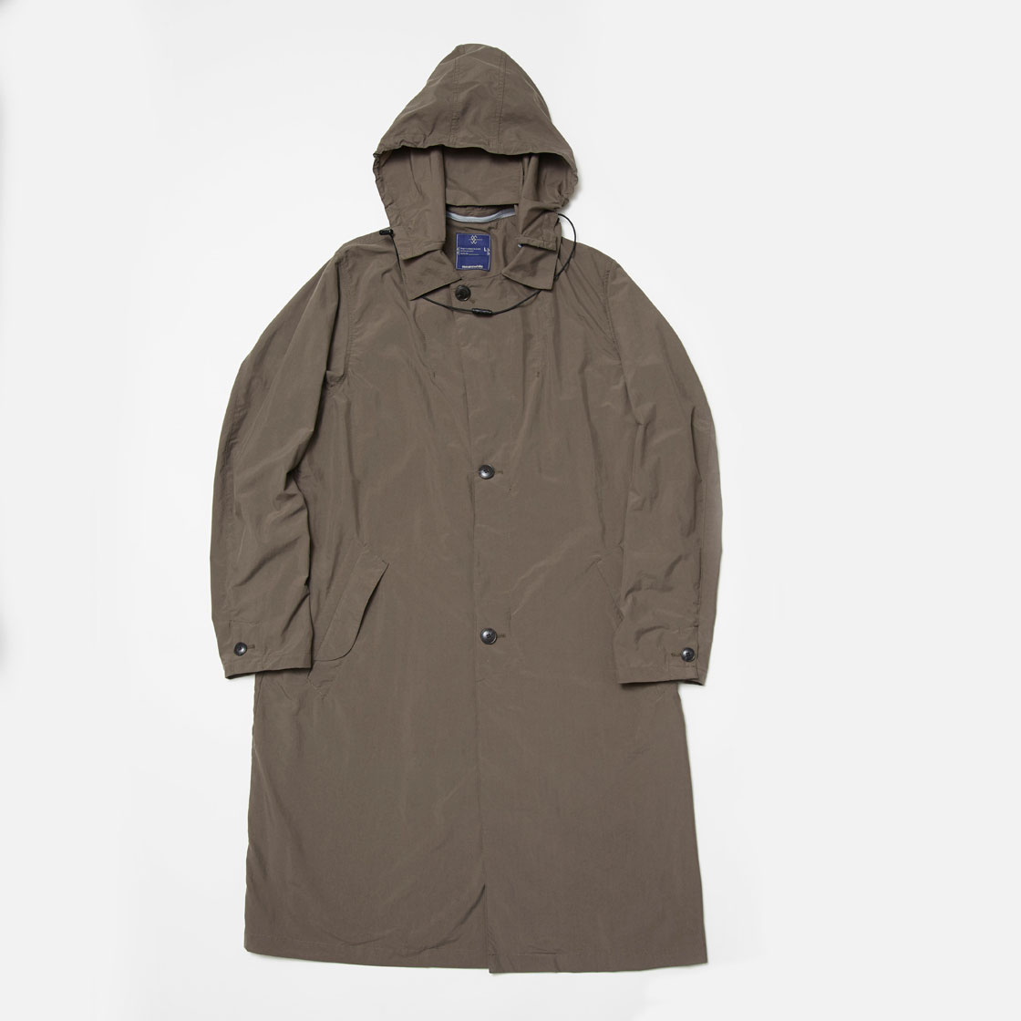 Water-Repellent Cordura Wool Travel Long Coat