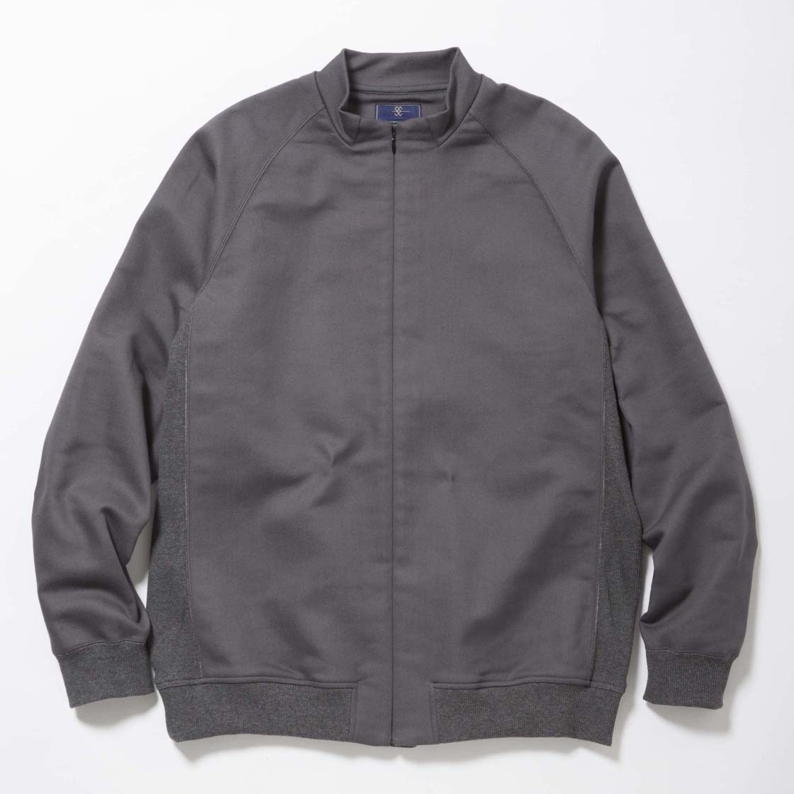 Woven Stretch Zip Sweat