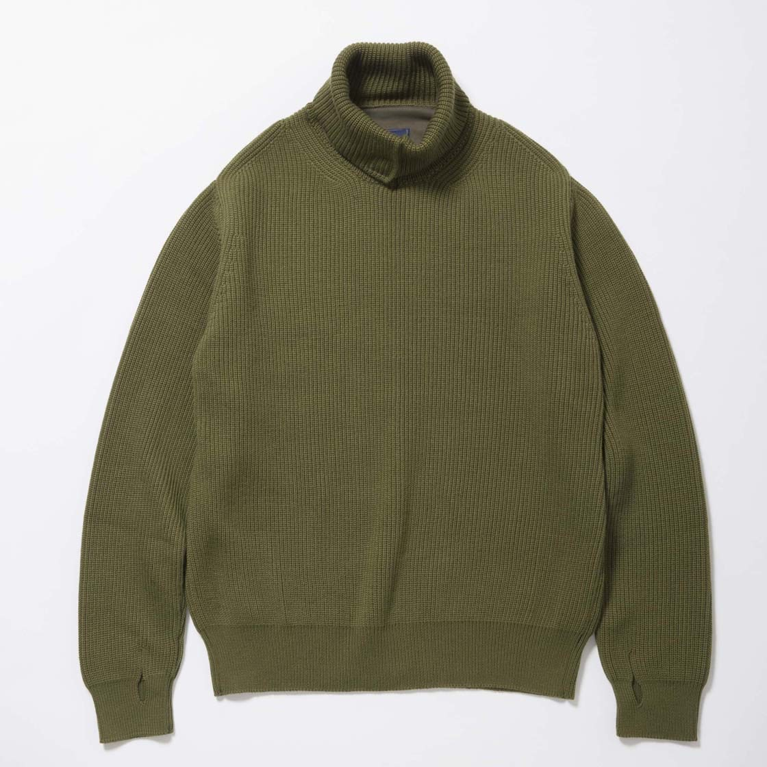 Open Collar Turtleneck Sweater