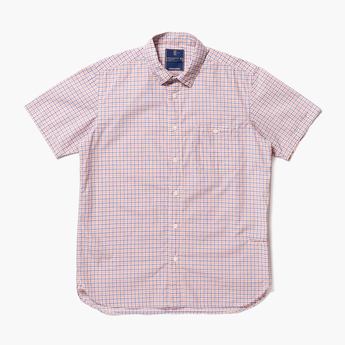 Cotton Gingham Check Loop Down S.S SH
