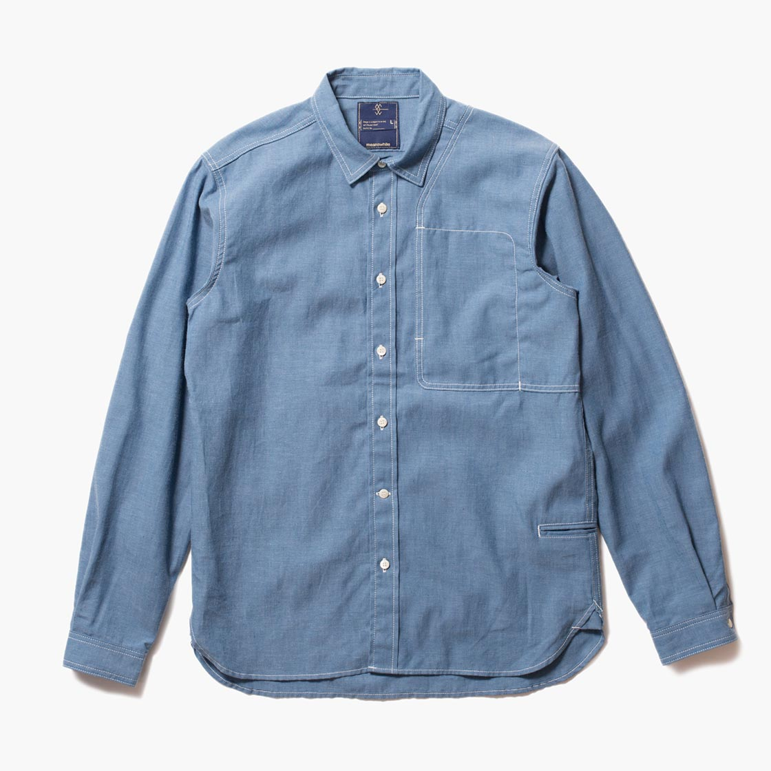 Cotton Chambray Shoulder Pad Work SH