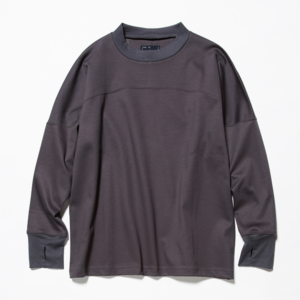 GIZA Cotton Round Yoke L/S Tee