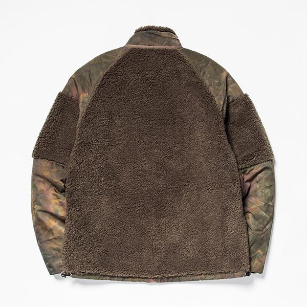 Dyed Camo Reversible Fleece/L3 Forest