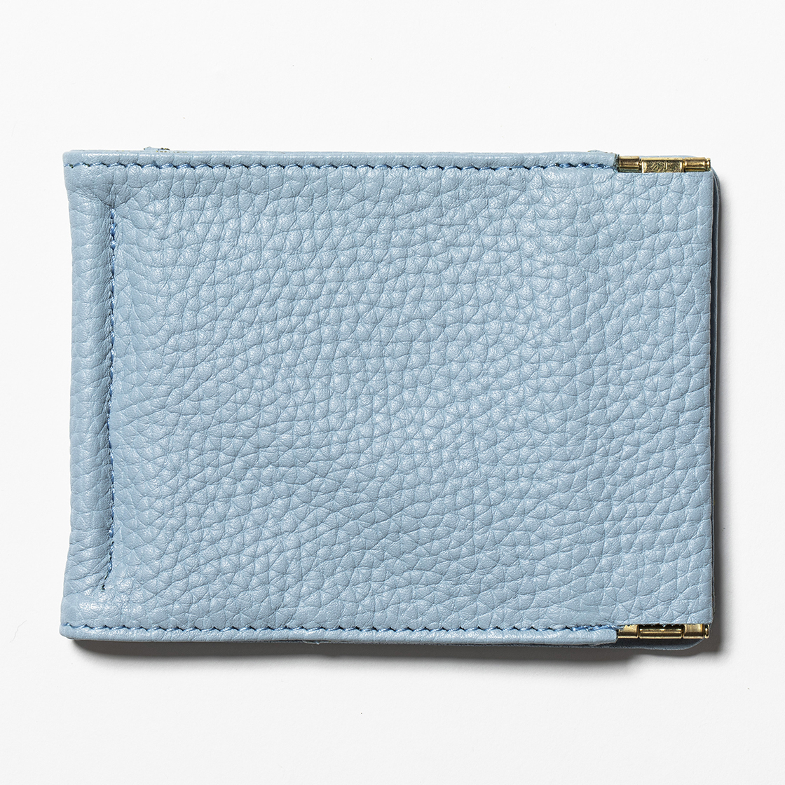 Leather Money Clip Ice Blue
