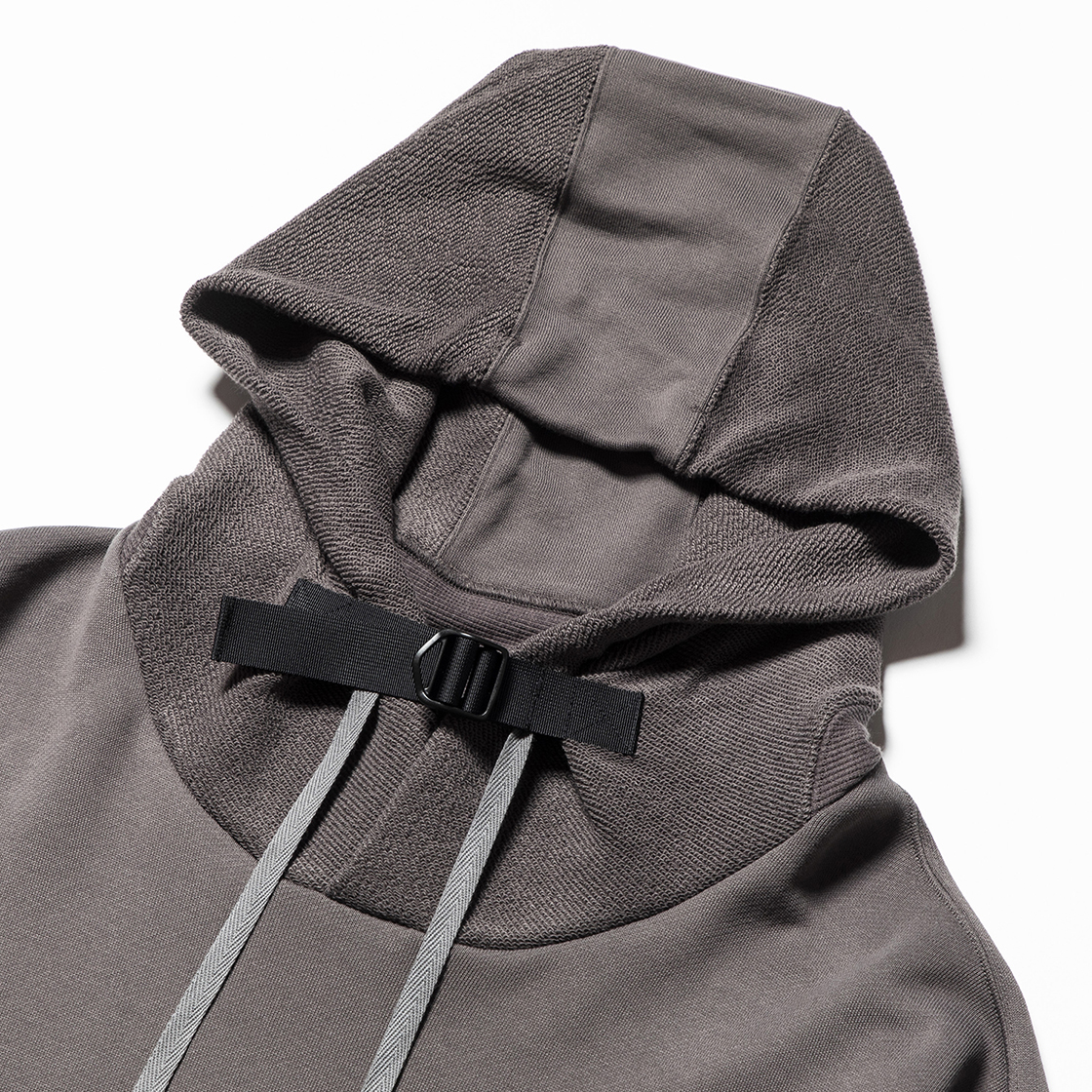 Heavy Pile Function Hoodie Charcoal