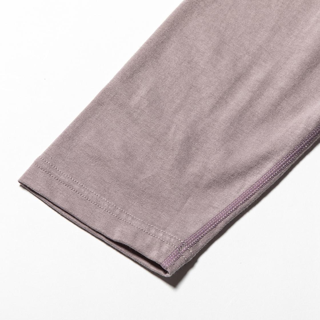 Split Sleeve L/S Tee Ash Pink
