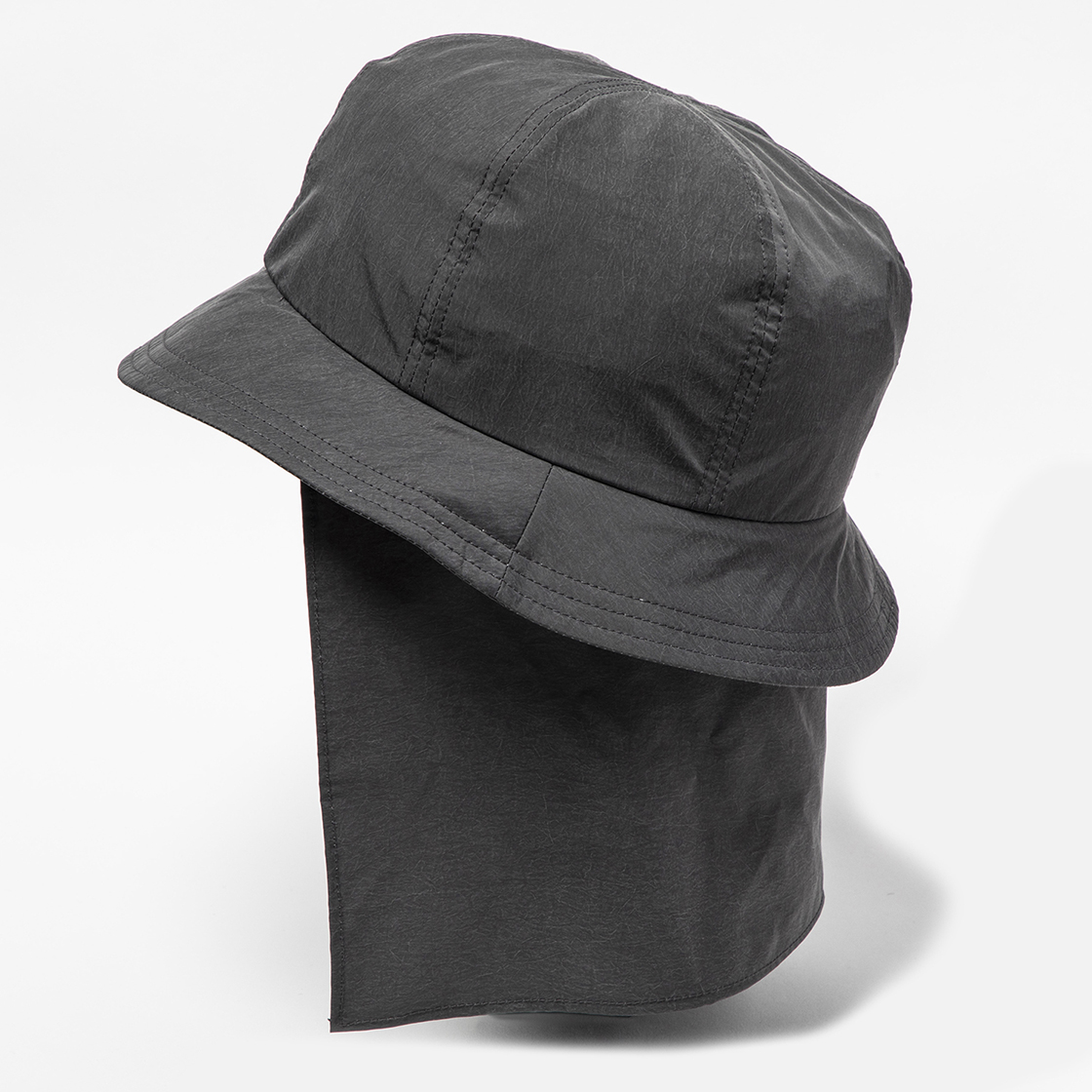 Nylon Shade Cover Hat Charcoal