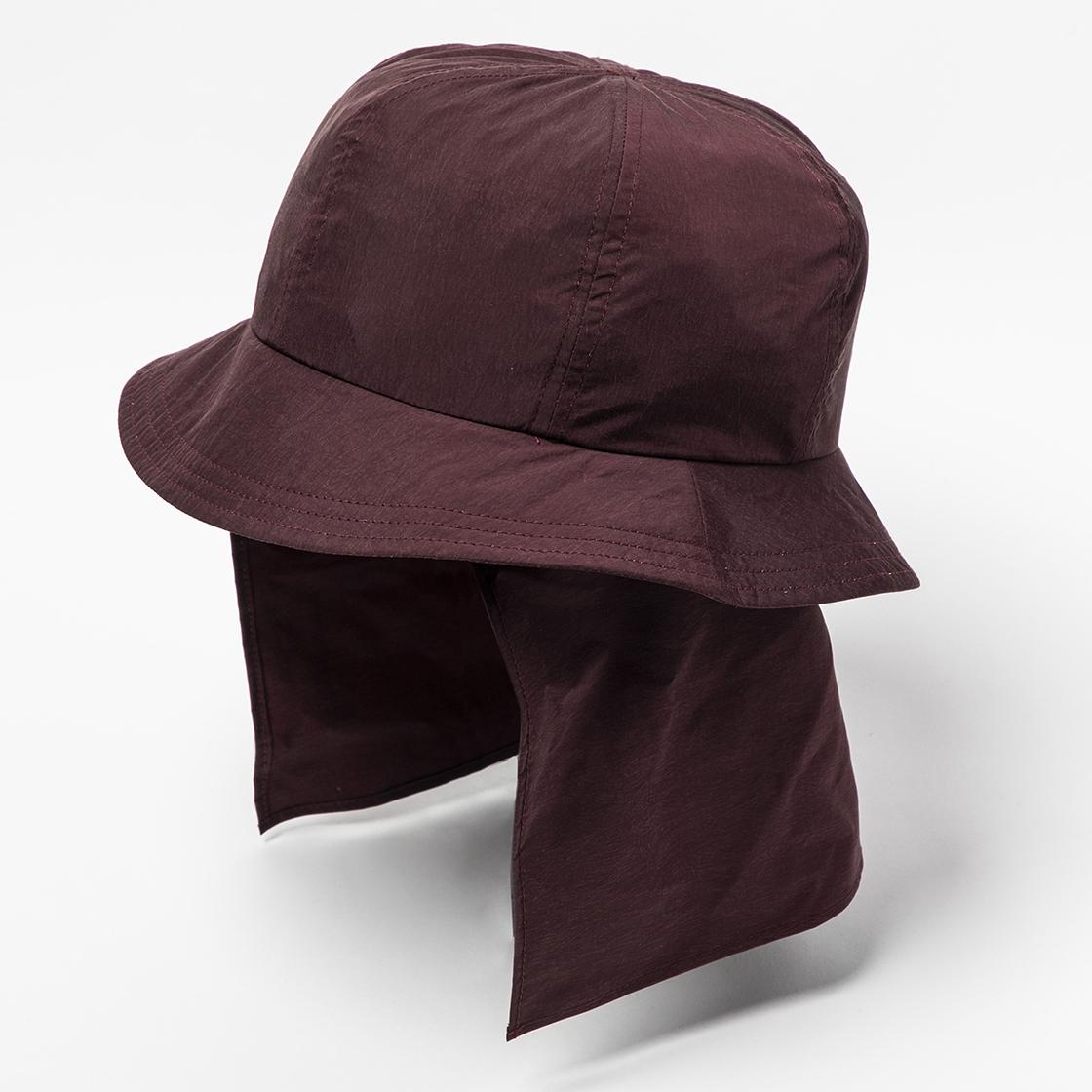 Nylon Shade Cover Hat Bordeaux