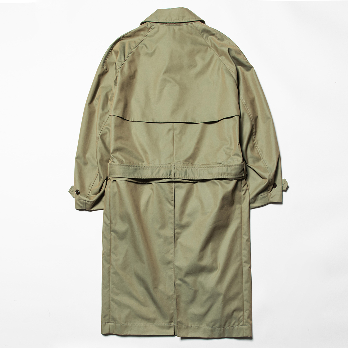 Iridescent Split Over Coat Khaki