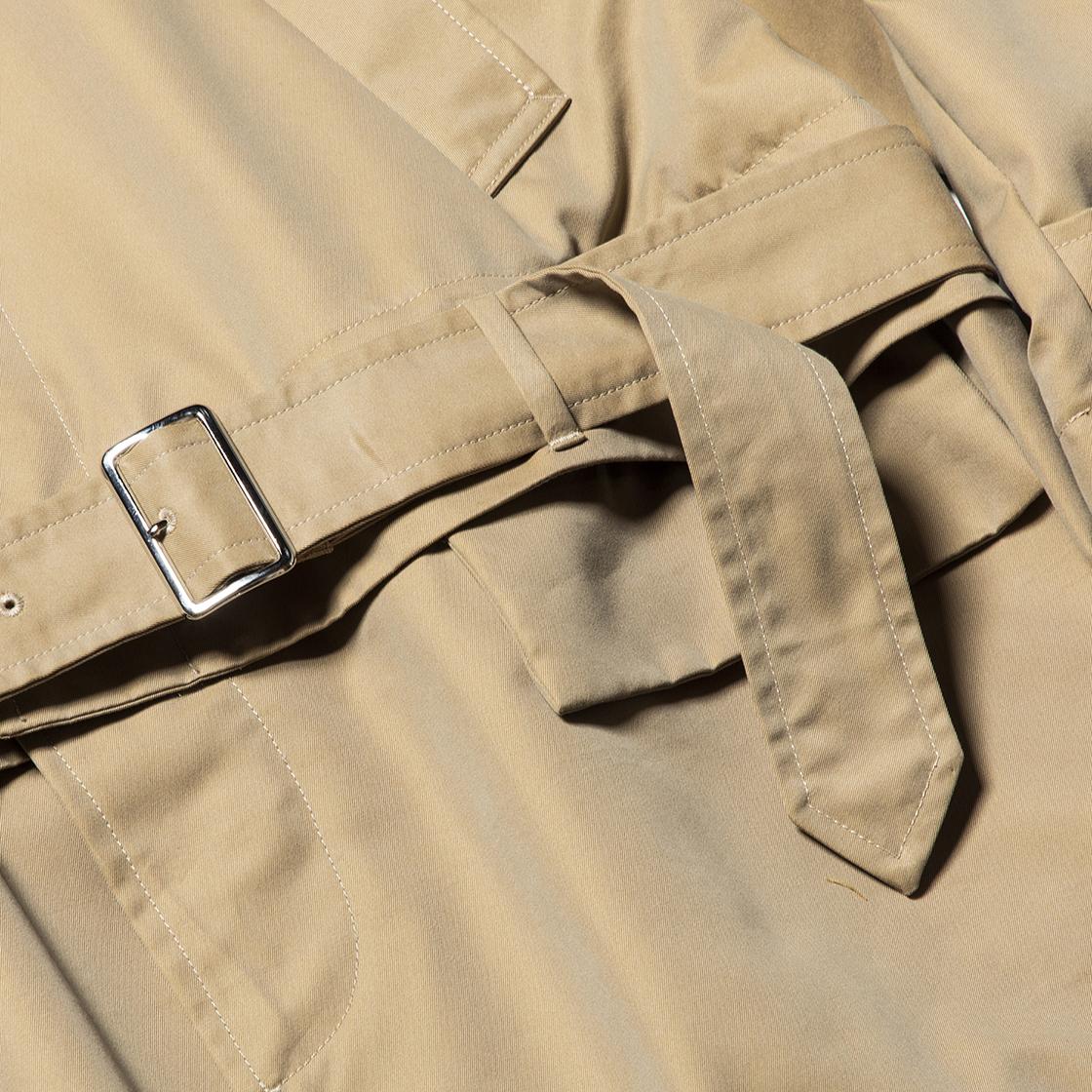 Iridescent Split Over Coat Beige