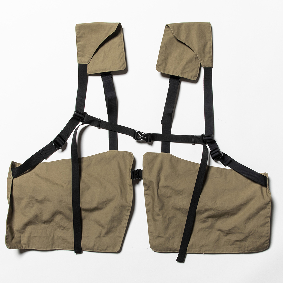 Split Luggage Vest Beige