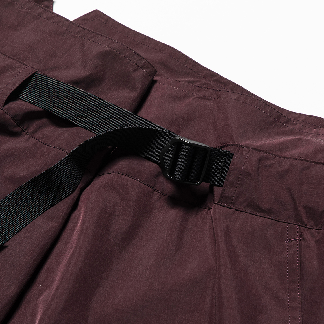 Nylon Wrap Board Shorts Bordeaux