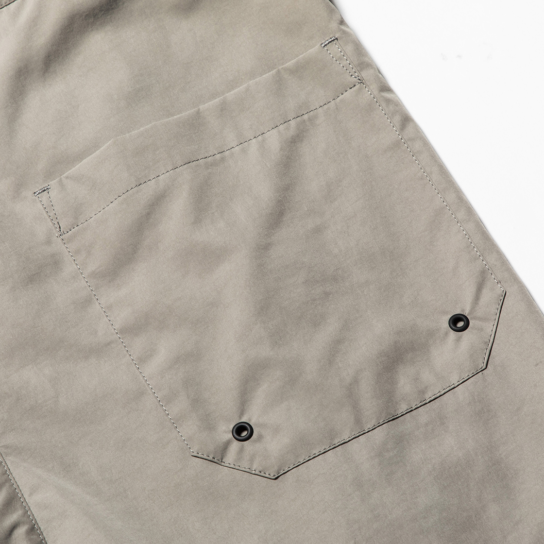 Nylon Wrap Board Shorts Grey