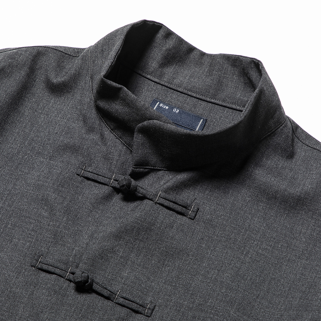 Wool Mao-Collar SH Charcoal