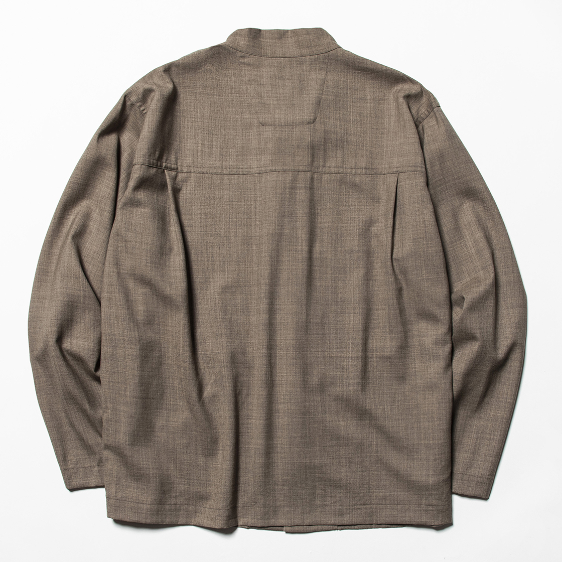 Wool Mao-Collar SH Brown