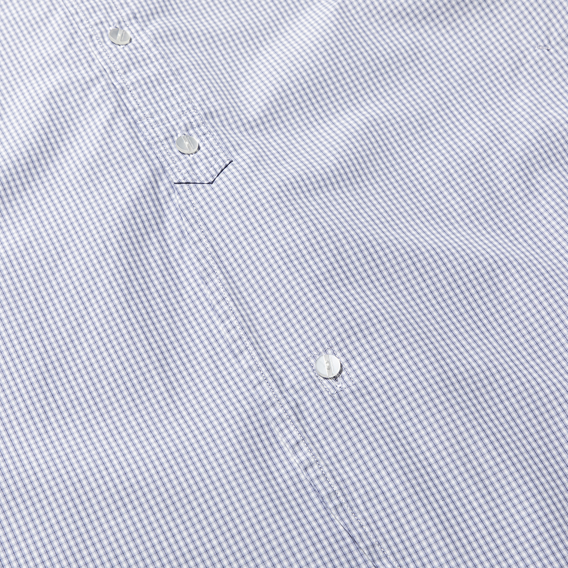 Imperial Poplin SH Navy Check
