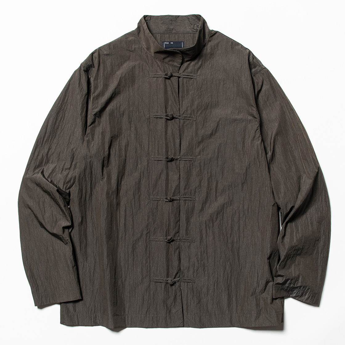 Nylon Mao-Collar SH Charcoal