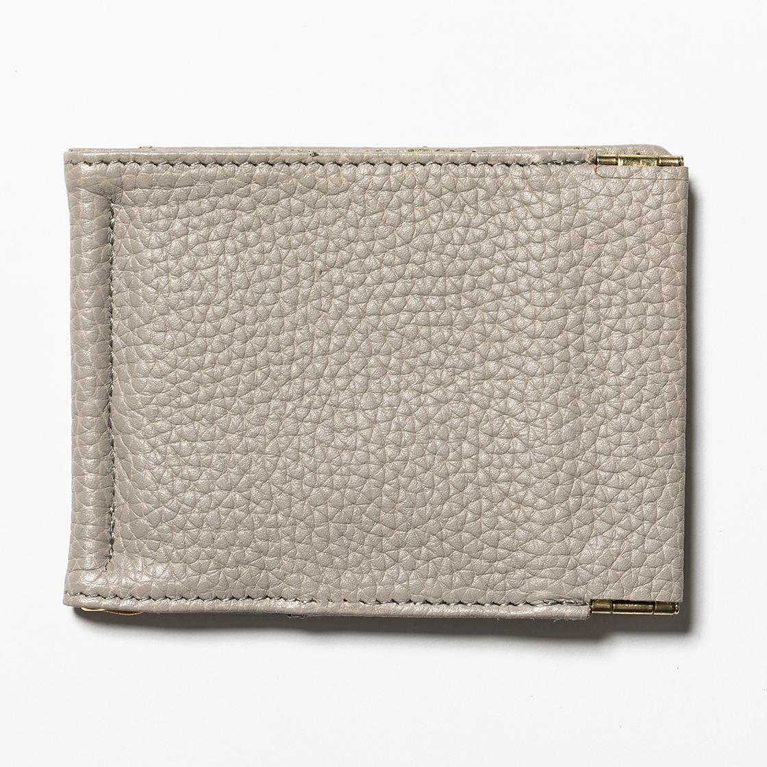 Leather Money Clip Light Grey