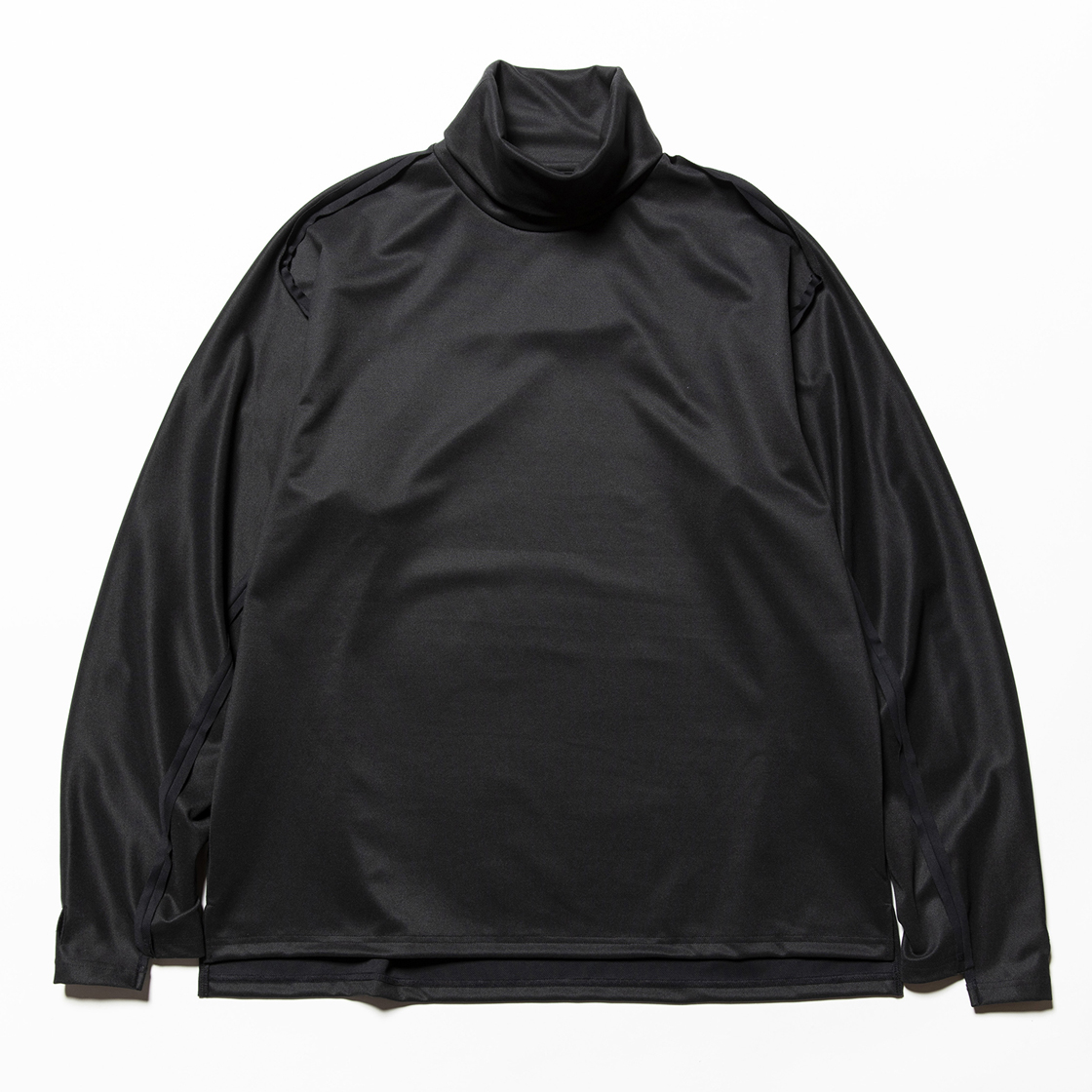 Twill Knit Turtleneck Off Black