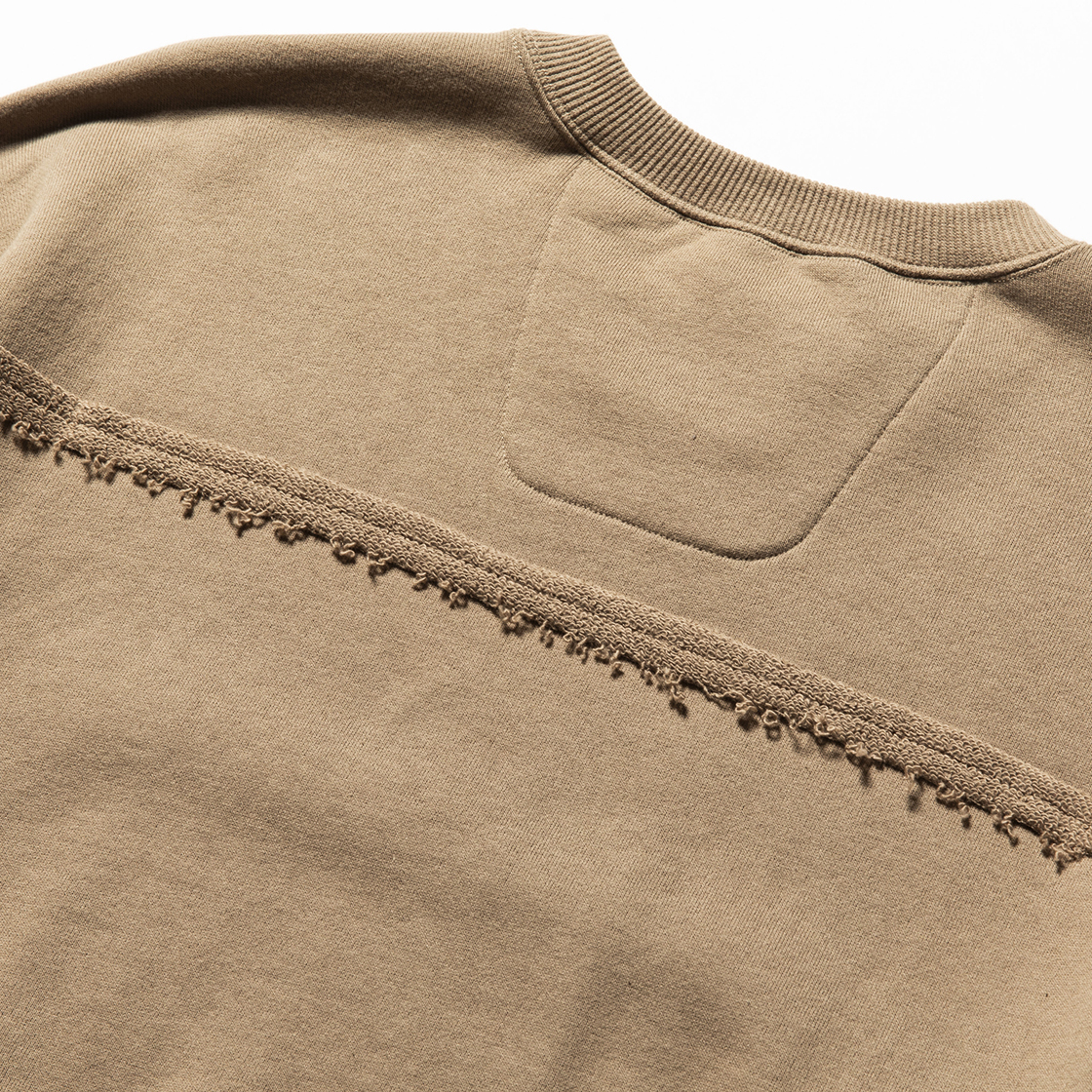 Crack Sweat Shirts Beige
