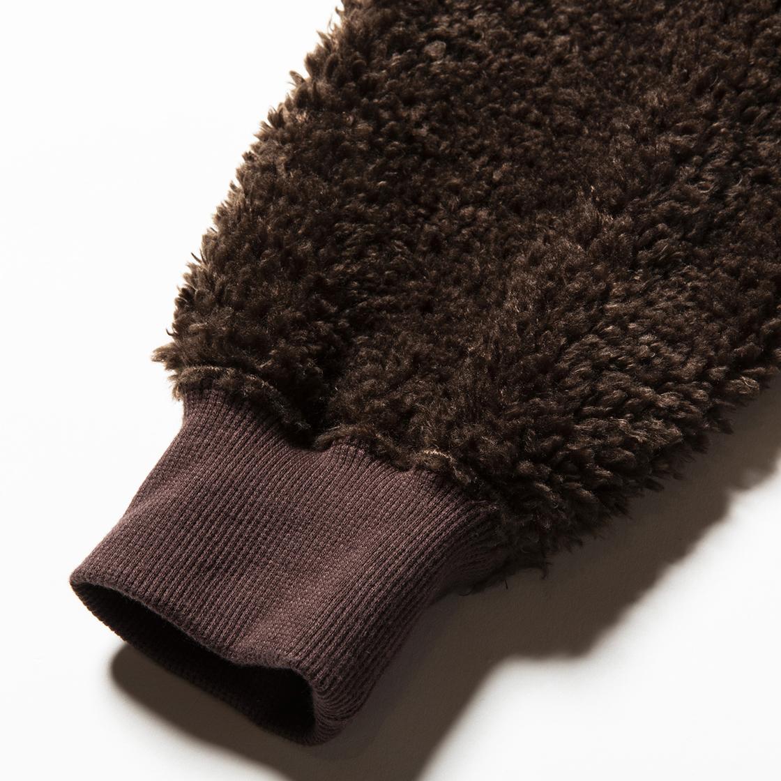 Pile Function Hoodie Brown