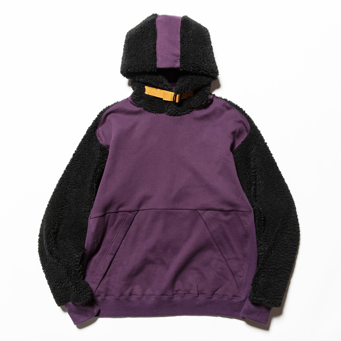 Pile Function Hoodie Purple