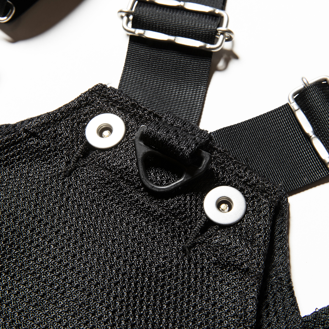 Activist Mesh Vest Bag Off Black