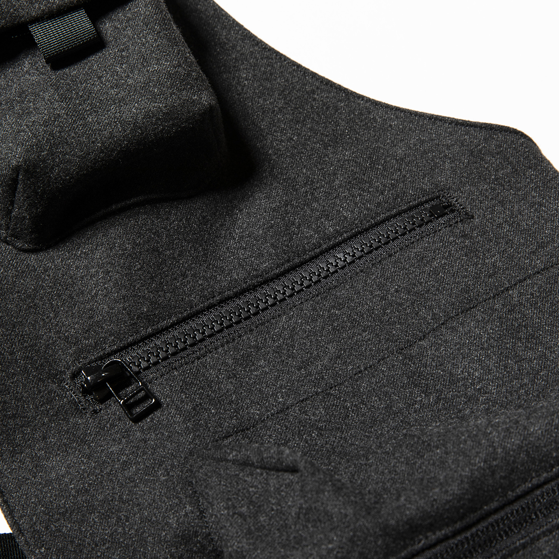 Tech Cloth Split Luggage Vest Coal