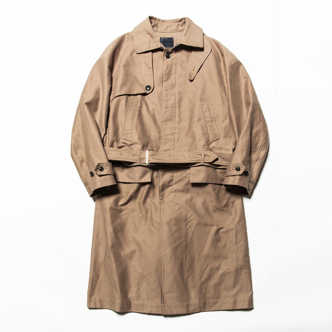 Moleskin Split Over Coat Fawn