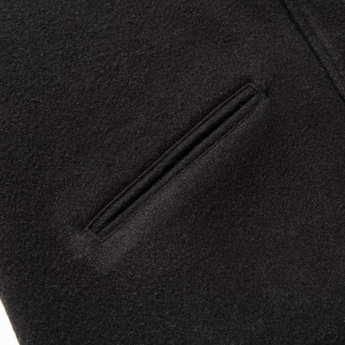Retro Fleece Melton Varsity Jackets C.Blue