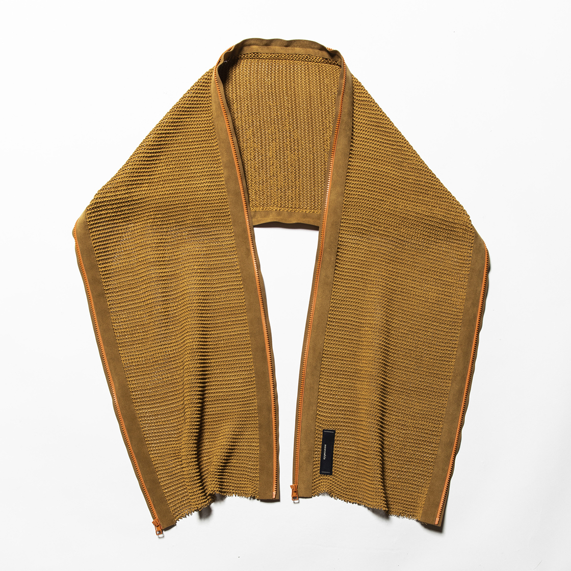 Slit Knit Unit Stole Light Brown