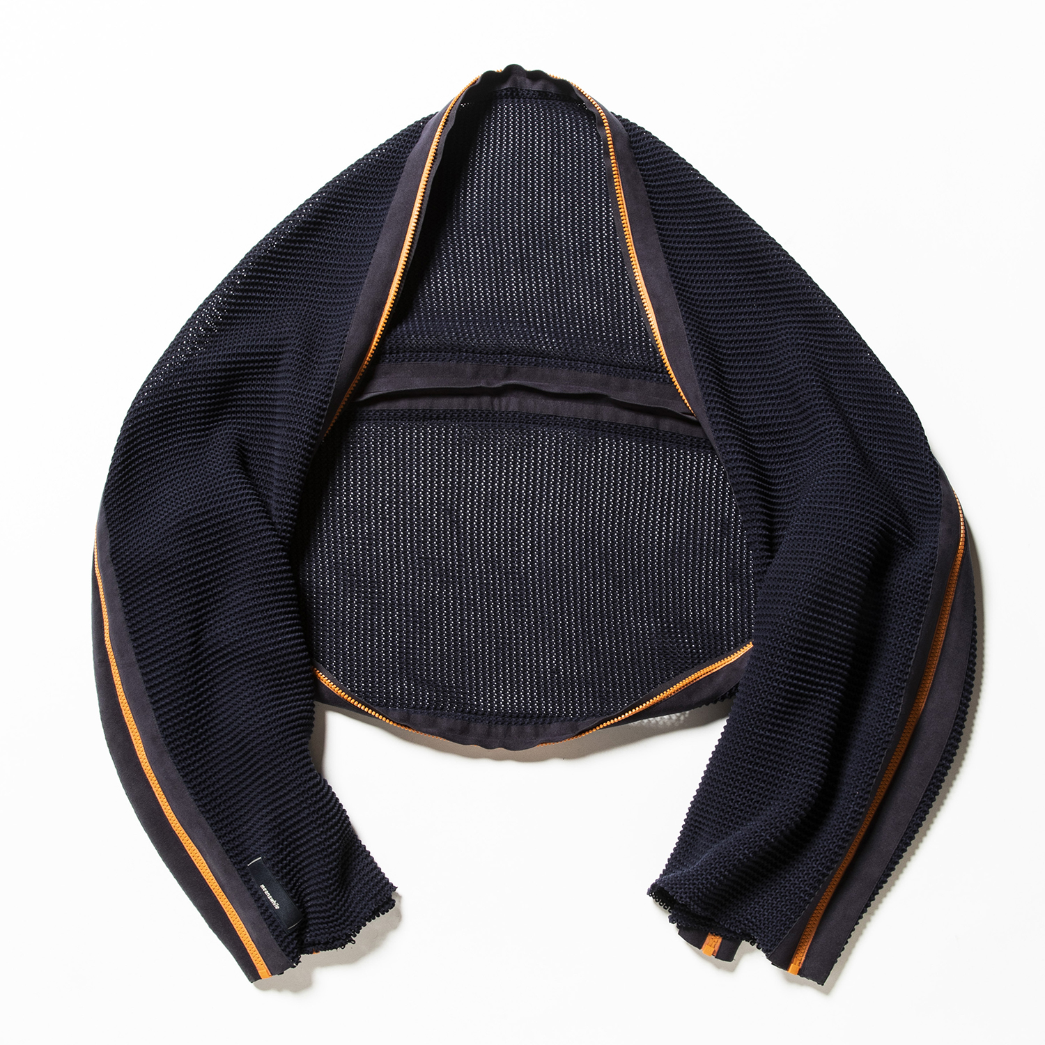 Slit Knit Unit Stole Navy