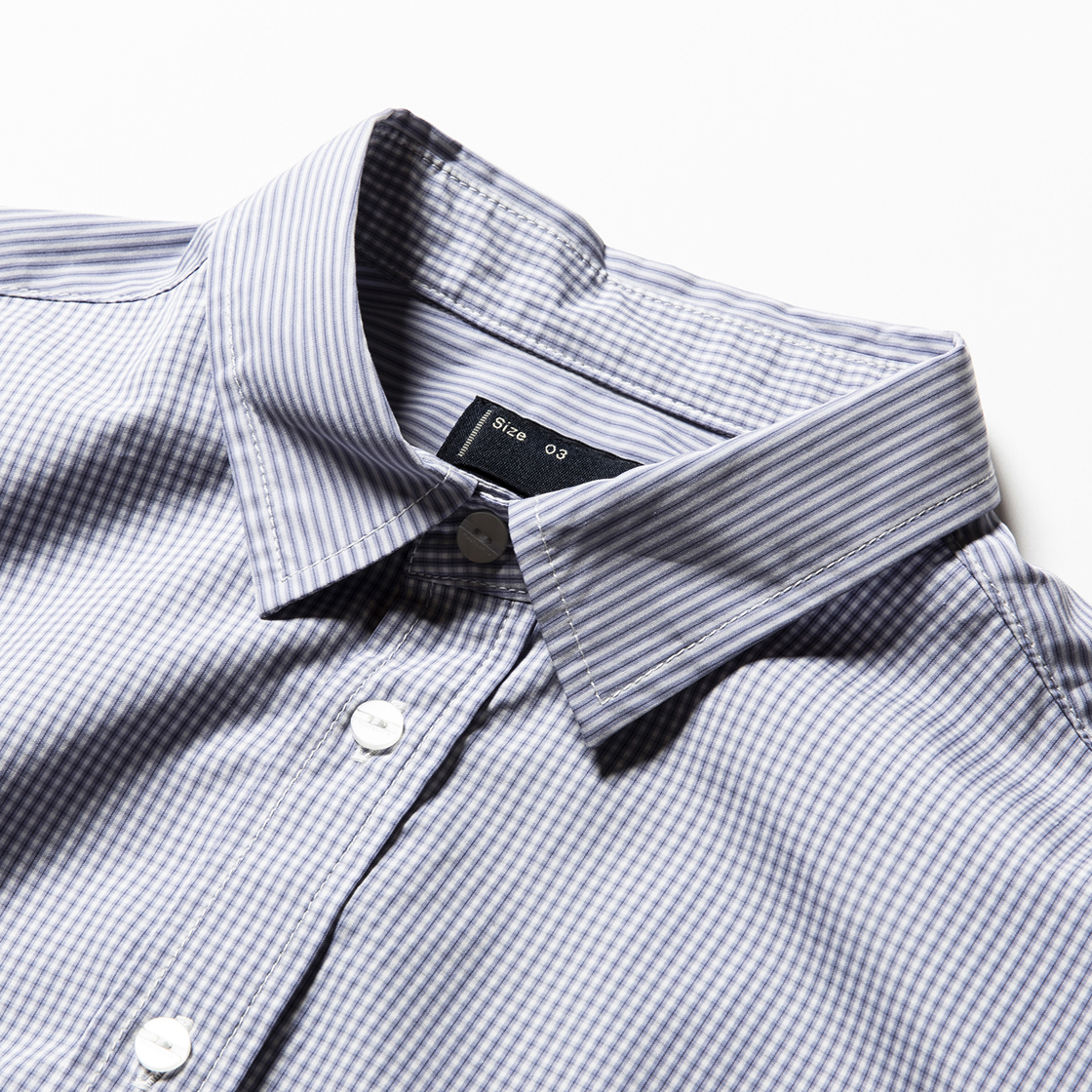 Imperial Poplin Packable SH Stripe/Check