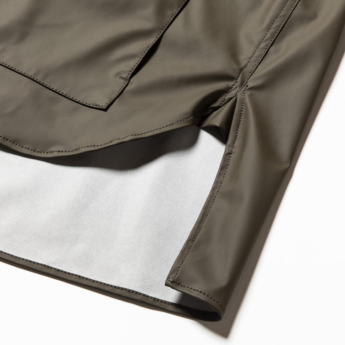 Rubber Cloth Shirts Parka Brown