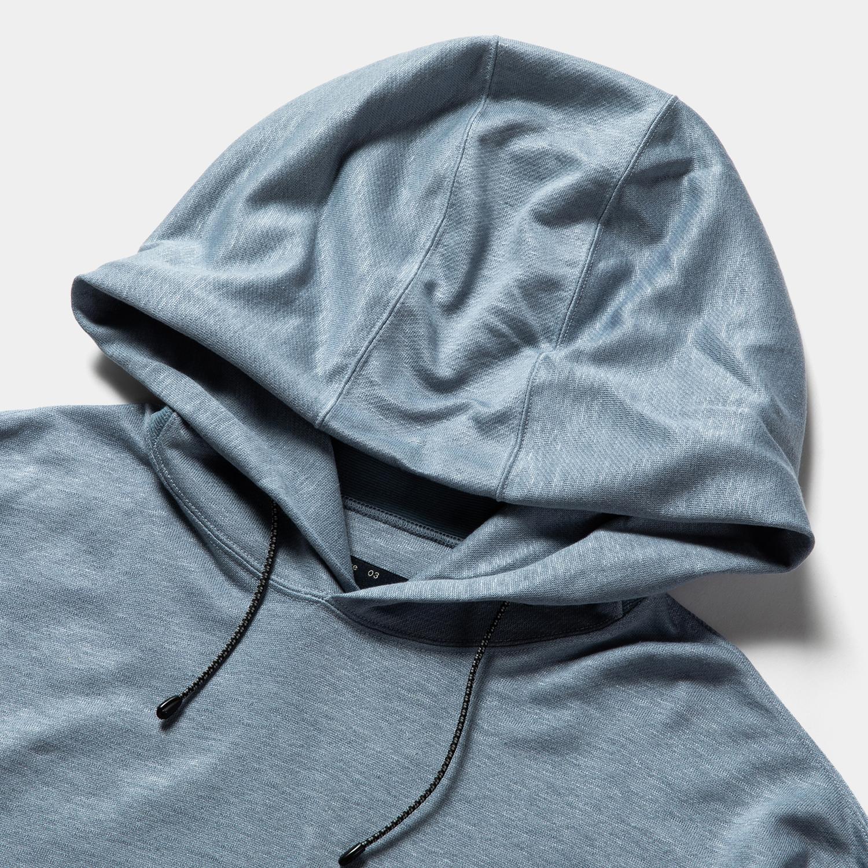Ice Linen Loopback Hoodie / Sax