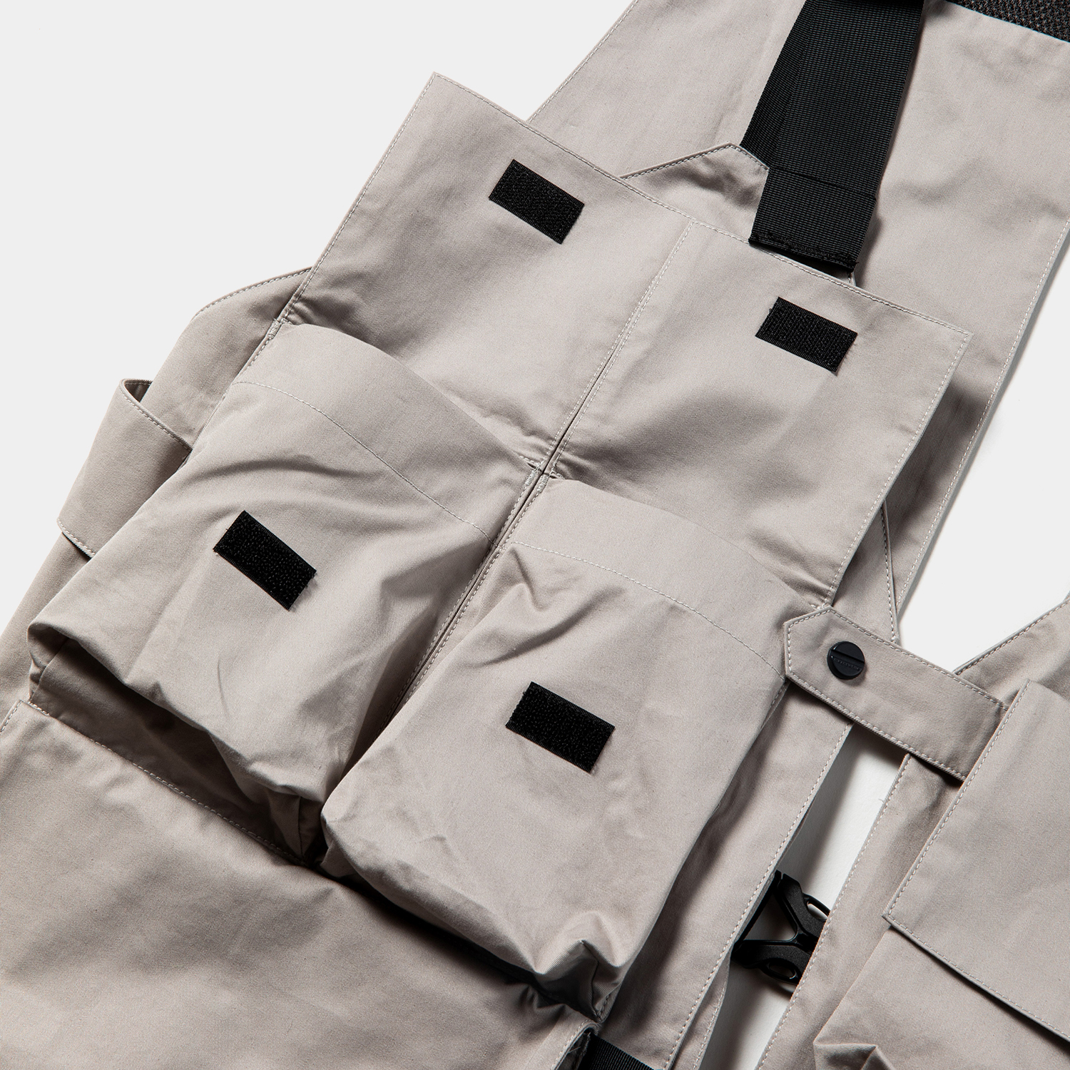 High Density Gabardine Split Vest / Grey