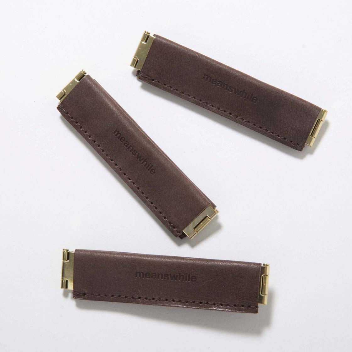 Wax Leather Utility Clip WOOD