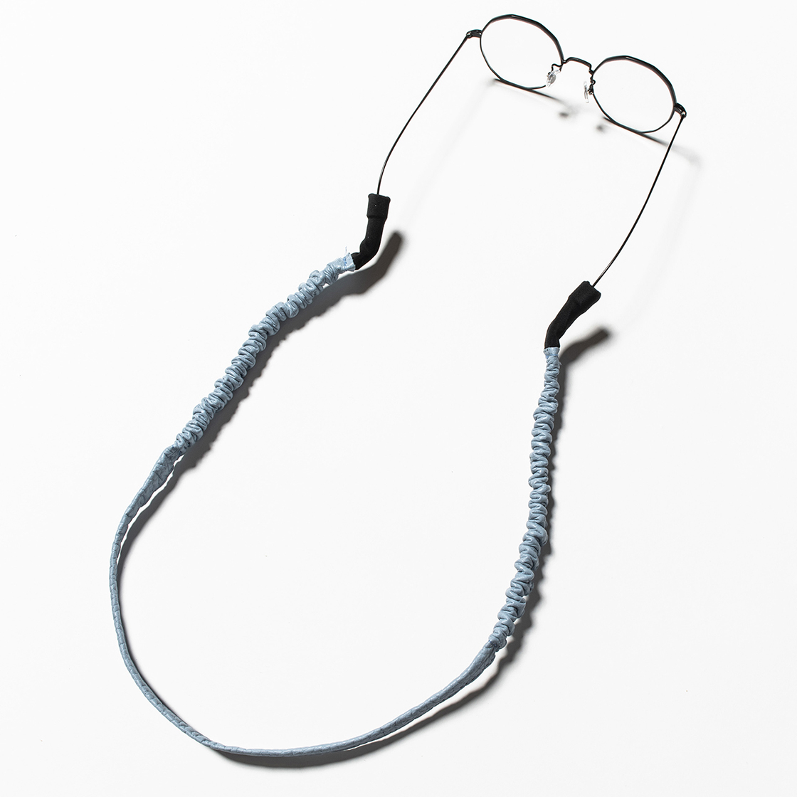 Bungee Leather Glass Cord Ice Blue