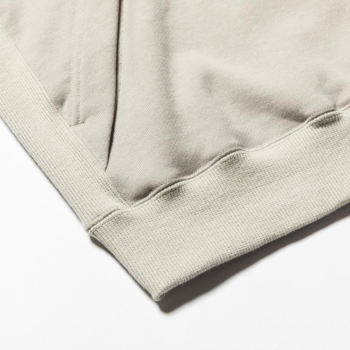 Heavy Pile Function Hoodie Grey