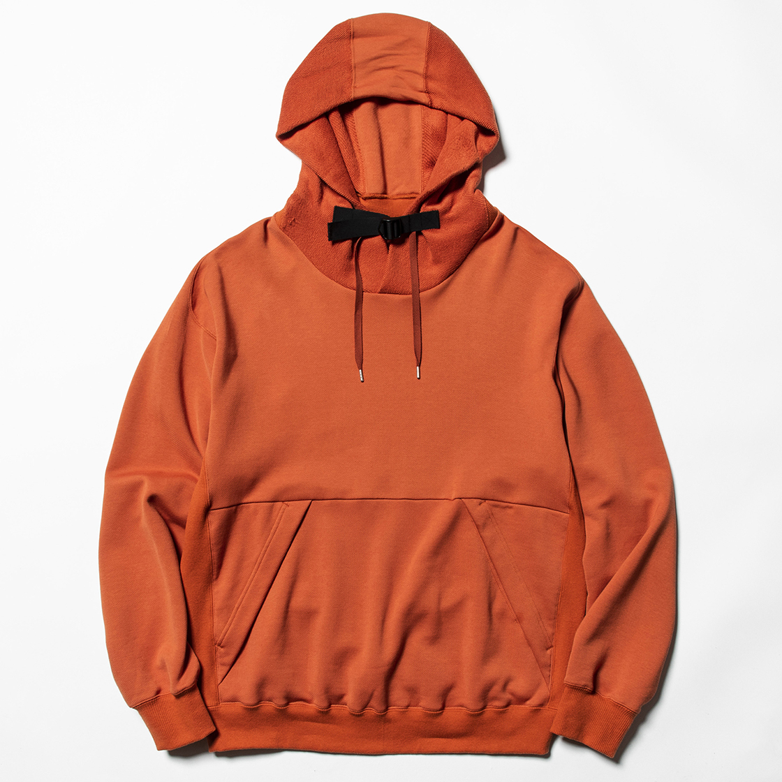 Heavy Pile Function Hoodie Orange