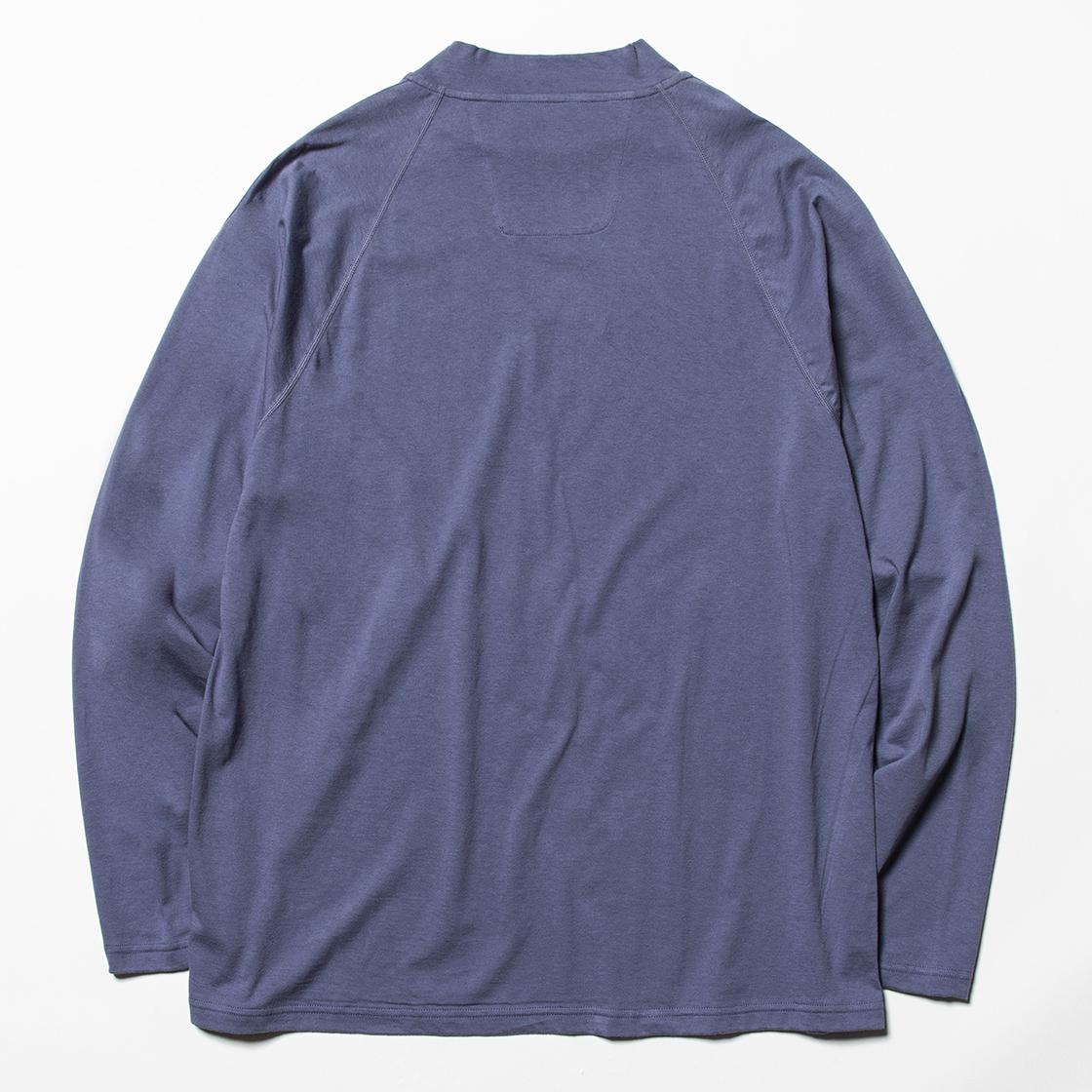 Split Sleeve L/S Tee Ash Blue