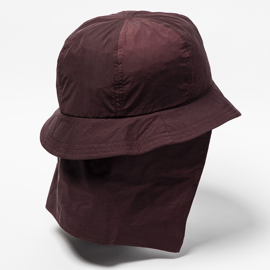 Nylon Shade Cover Hat Bordeaux