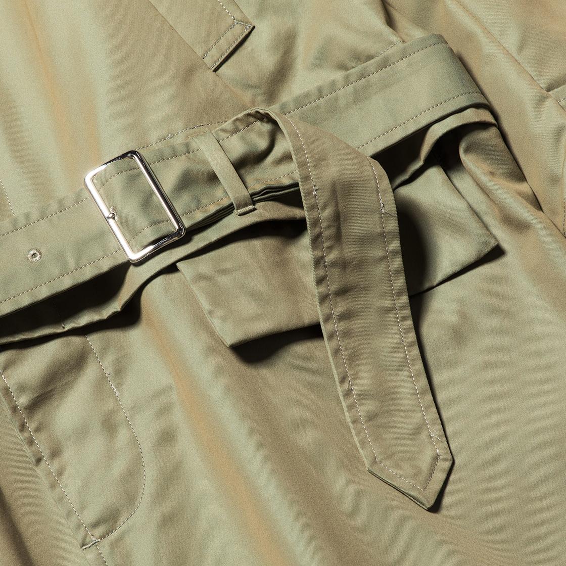 Iridescent Split Over Coat Khaki