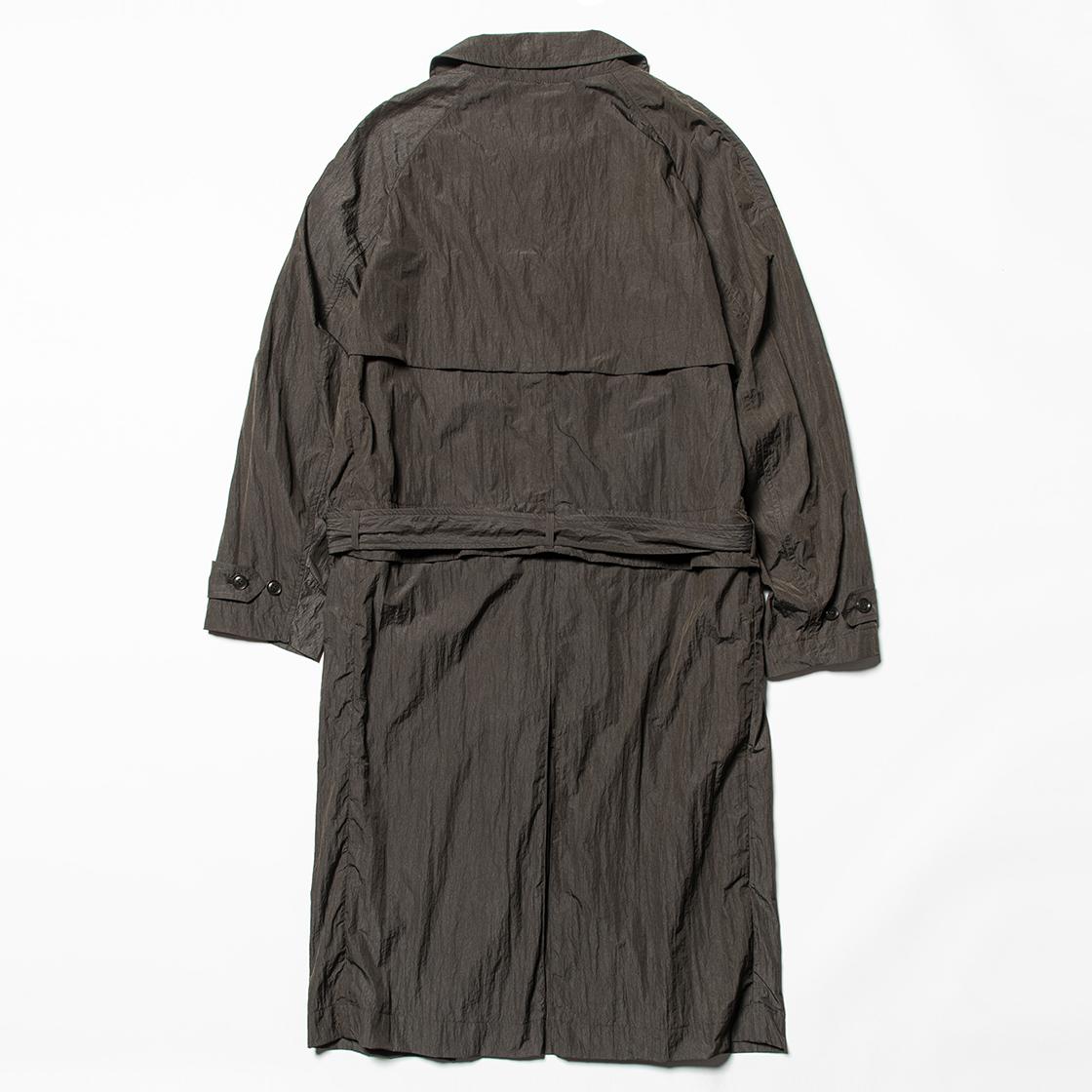 Nylon Split Over Coat Charcoal