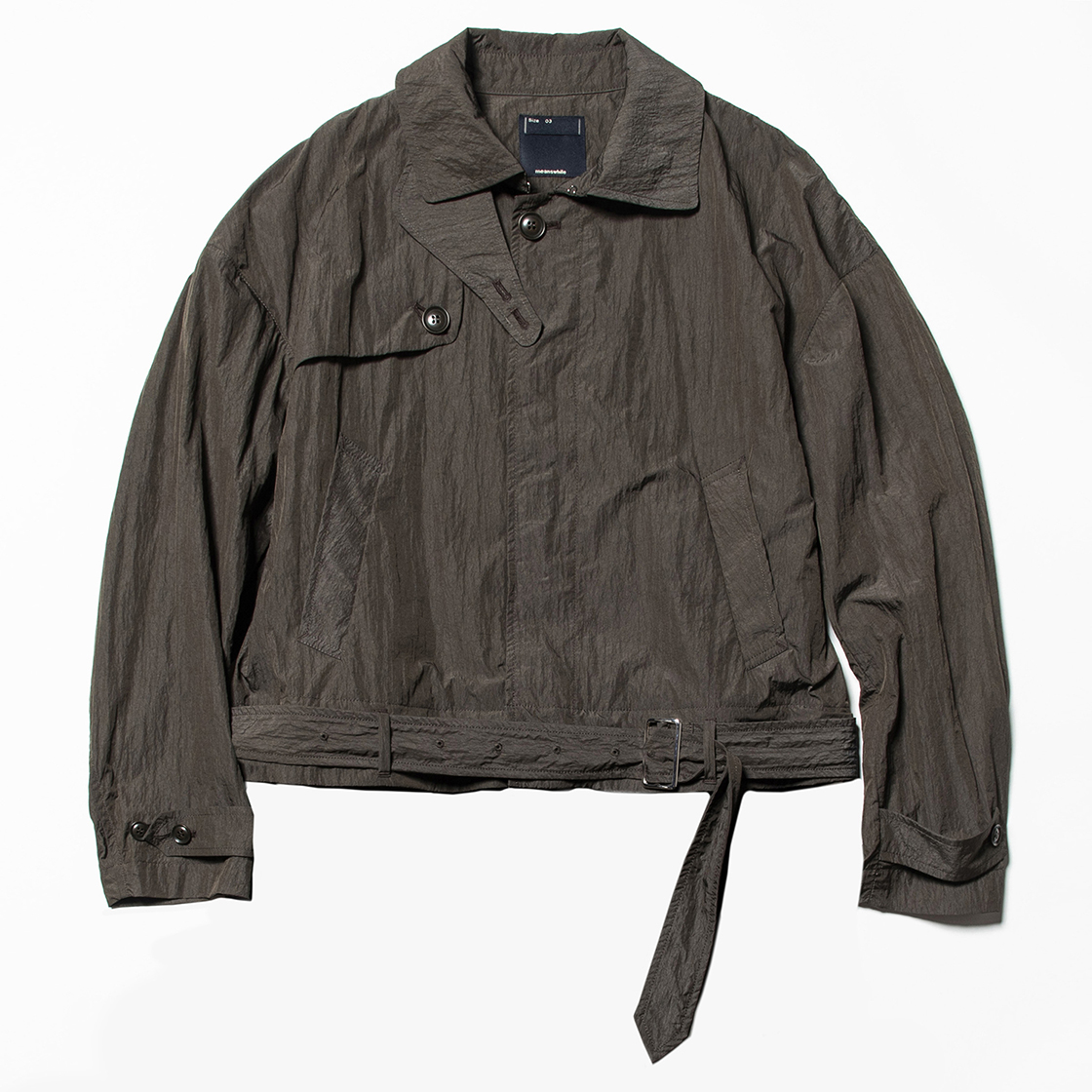 Nylon Split Over Coat Charcoal