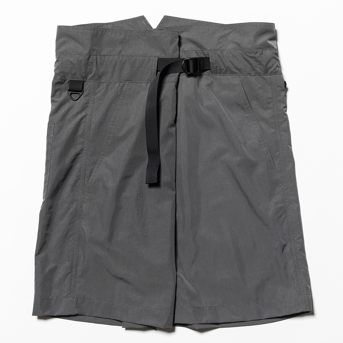 Nylon Wrap Board Shorts Charcoal