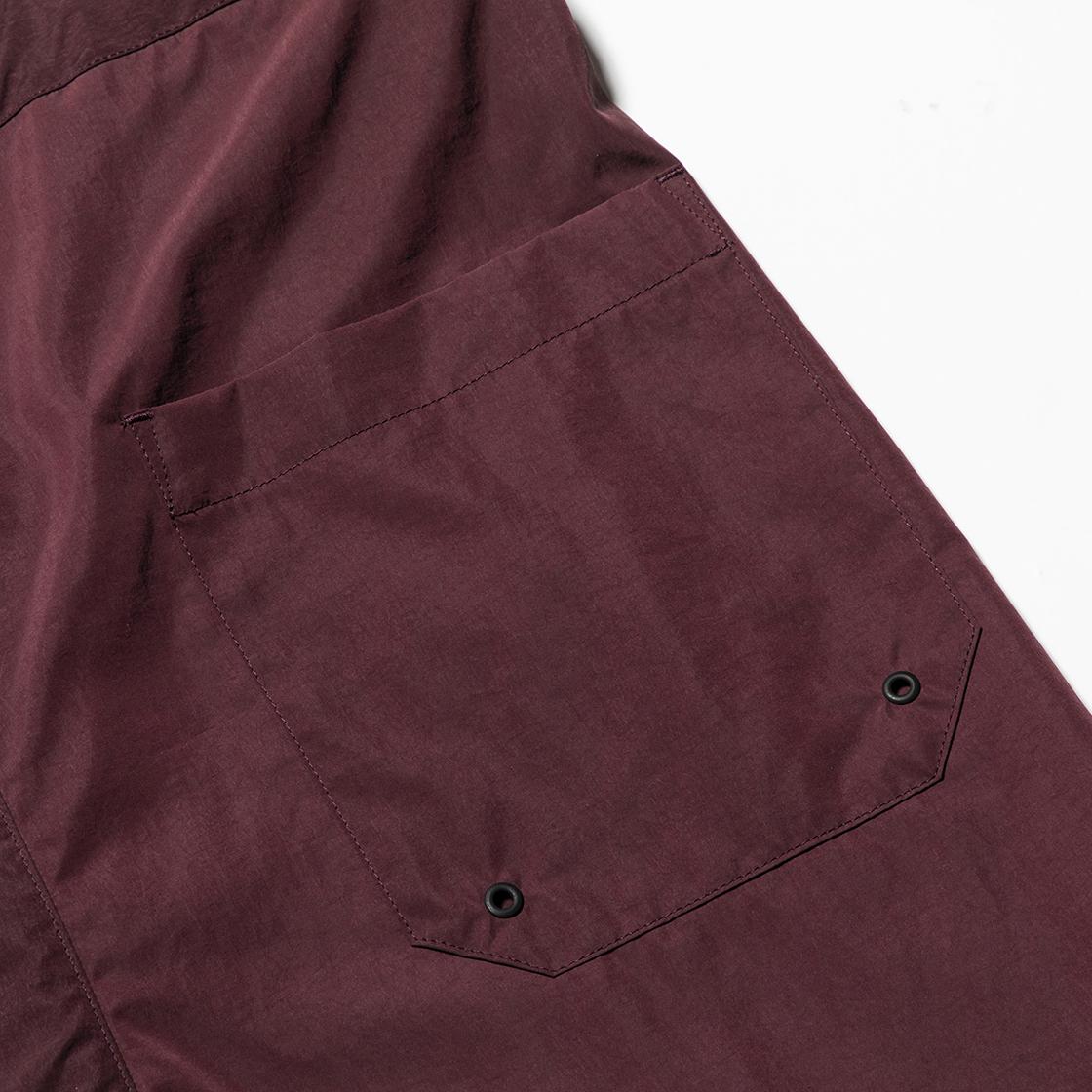 Nylon Wrap Board Shorts Bordeaux