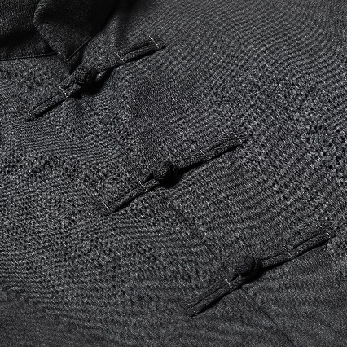 Wool Mao-Collar SH Charcoal